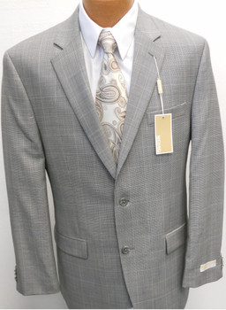Men's Michael Kors Plaid Suit - Grey Houndstooth
