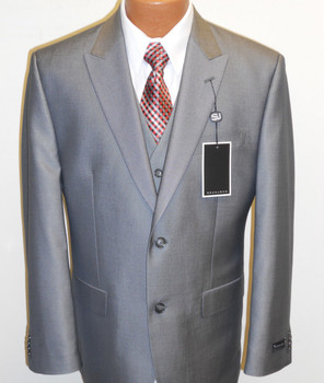 Men's Sean John Vested Suit - Silver