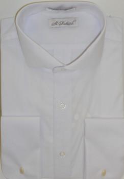 Men's Spread Collar Dress Shirt - White