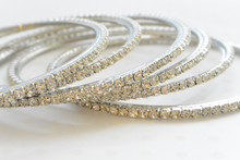 Rhinestone Bangle Bracelet with a Brilliant Sparkle