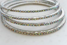 Rhinestone Multicolor Bangle Bracelet