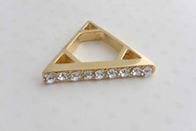 Triangle Ring Gold Tone