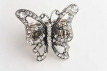 Butterfly Ring With Antique Finish