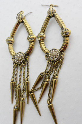 Cleopatra Earrings Antique Gold Finish