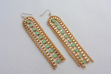 Cairo Goddess Earrings with Mint Crystals