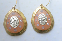 Medallion Earrings Pink