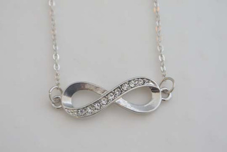 Infinity Charm Necklace Silver