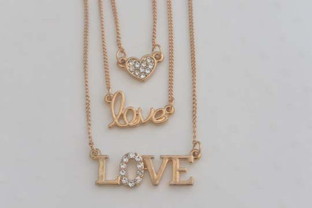 Layered Love Necklace Set of 3