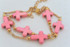 Cross Double Layered Bracelet Pink