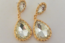 Crystal Drop Earrings Diamond