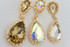 Crystal Drop Earrings Champagne, Mystic Topaz, Diamond