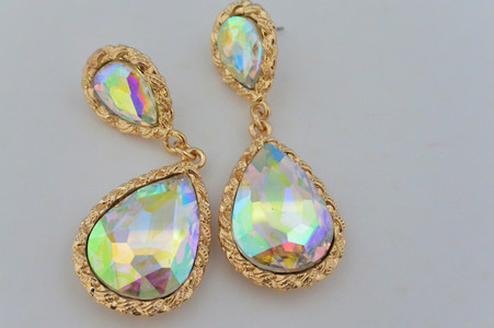 Crystal Drop Earrings Mystic Topaz