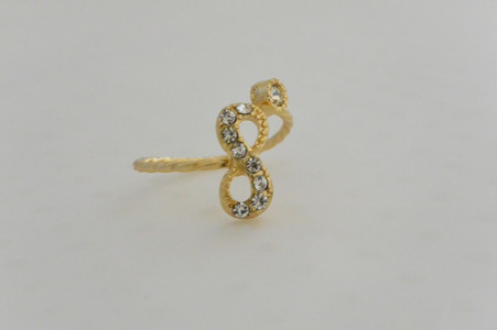 Infinity Ring Gold Tone