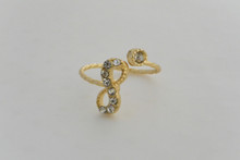 Infinity Ring Cupid Collection Gold Tone