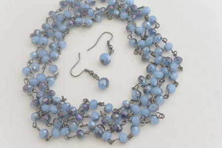 Smoky Crystal Set Blue