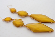 Crystal Mustard Earrings