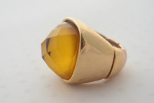 Dome Ring in Mustard