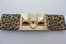 Leopard Belt with Gold Accents