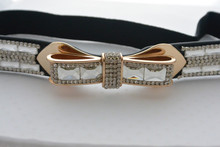 Rhinestone Bow Belt