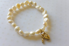 Lock and Key Mother of Pearl Bracelet