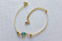 Dainty Pearls and Blue Crystal String Bracelet
