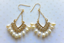 Mother of Pearls Chandelier Earrings