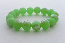 Swarovki Bead Luminous Bracelet in Green