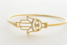 Hamsa Hand Bangle with an Evil Eye