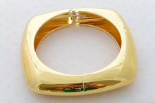 Egyptian Chunky Gold Bangle Bracelet