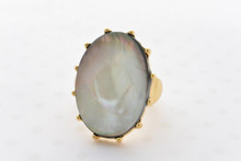 Mother of Pearl Ring in White