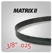 "3/8"" .025"" - Matrix II General Purpose Band Saw Blades"