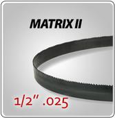 "1/2"" .025"" - Matrix II General Purpose Band Saw Blades"