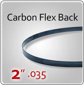 """2"""" .035 Flex Back (HEF) Carbon Blades"""