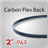 """2"""" .042 Flex Back (HEF) Carbon Blades"""