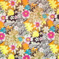 Kasmir Fabric Groovy Daisy Razzle Dazzle 1397 100% Polyester CHINA 42,000 Wyzenbeek Double Rubs H: 37 inches, V:34 inches 56 - My Fabric Connection - Kasmir