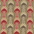 Kasmir Fabric Madras Ruby 5064 CHINA 15,000 Wyzenbeek Double Rubs H: 13 4/8 inches, V:12 5/8 inches 54 - My Fabric Connection - Kasmir