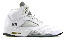 AIR JORDAN 5 RETRO METALLIC WHITE 2015 (SIZE 13)