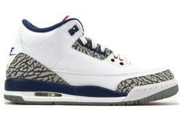 AIR JORDAN 3 OG BG (GS) TRUE BLUE 2016 (SIZE 7)