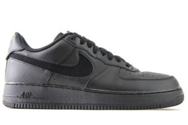 AIR FORCE 1 '07 QS SWOOSH PACK BLACK (SIZE 10)