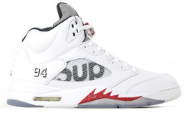 AIR JORDAN 5 RETRO WHITE SUPREME - (SIZE 11)