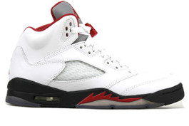 AIR JORDAN 5 RETRO (GS) FIRE RED (SIZE 4.5Y)