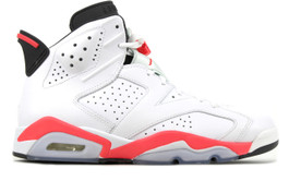 AIR JORDAN 6 RETRO INFRARED WHITE 2014  (SIZE  10)