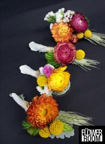 kayleen buttonholes corsage hair circlet