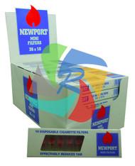 Newport Plastic Disposable Mini Cigarette Filters - 36 pack (NP003)