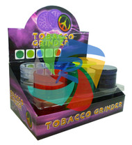 3 PART LARGE PLASTIC GRINDER (12 PER BOX) (SKU: GR004)