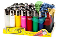 Solid Coloured Clipper Lighters