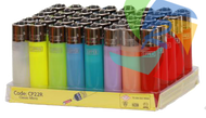 LARGE TRANS COLOURS  CLIPPER LIGHTERS (Pack Size: 40)