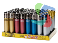 Metalic Coloured Clipper Lighters