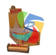 RAW HEMP PLASTIC ROLLER EXTRA APRON INCLUDED (12 PER BOX) (SKU: RW015)