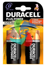 DURACELL PLUS PWR D PACK OF 2 (Pack Size: 10) (SKU: BT010)